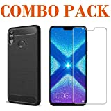 ADRY Tempered Glass & Hybrid Back Cover_Combo Pack_ Premium Quality Screen Guard And Soft Case Cover For Huawei Honor 8X