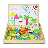 Magnetisches Holzpuzzle | Holzpuzzle Baby | Lernspielzeug | Geschenk für Kinder Jungen Mädchen |...