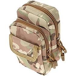 Mini Bolso De Cintura Paquete Bolsa De Cinturón Táctica Militar Molle De Senderismo Al Aire Libre - CP camuflaje, 19 x 10 x 2 cm