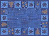 Duni Dunicel 100 Tischsets Weihnachten Shalimar blau-gold 30x40cm