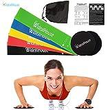 IdealHouse - Discos deslizantes y Bandas elásticas de resistencia para hysical terapia Yoga Pilates rehabilitación deporte Fitness cinturón