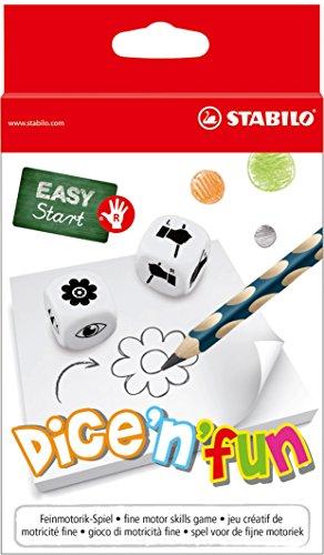 Feinmotorik-Spiel für Rechtshänder- STABILO dice'n'Fun - 2-6 Spieler ab 5 Jahren