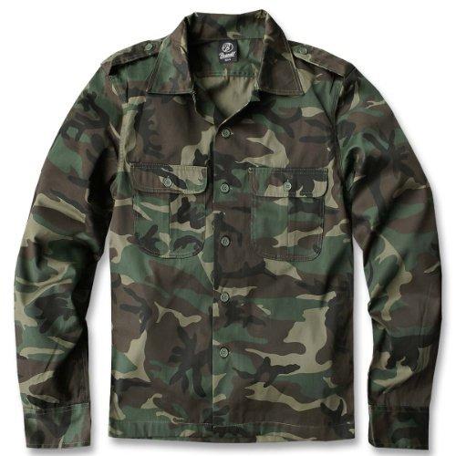 Camicia a maniche lunghe da uomo Brandit siems B-4102 (S a 8XL)