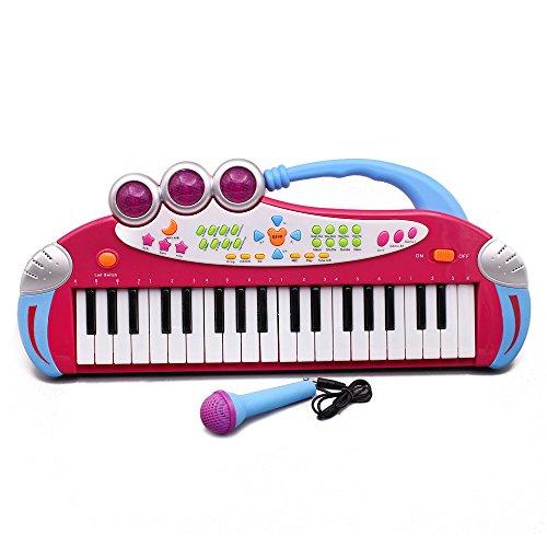 Elektronisches Keyboard mit 37 Tasten, für Kinder, Aufnahme und Abspielen von Demosongs