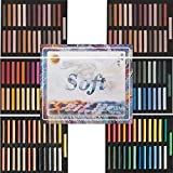 amp-artshop© 100 Soft Pastellkreiden Set AB 50 Warmtöne & 50