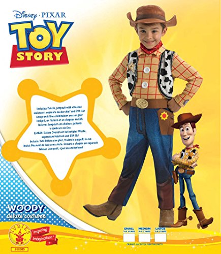 Imagen de woody deluxe  toy story  childrens disfraz  grande  128cm alternativa