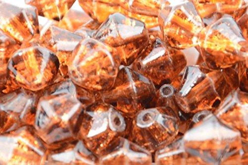 100pcs 4mm bicono perline di vetro crackle ambra