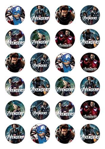 (24x Avengers Celebration Essbare Papier Cupcake Topper Kuchen Dekorationen)