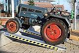 TrutzHolm® Profi Alu Auffahrrampe ca. 255 cm bis 3.300 kg/Paar Verlade Rampe Auto (2 Stück)