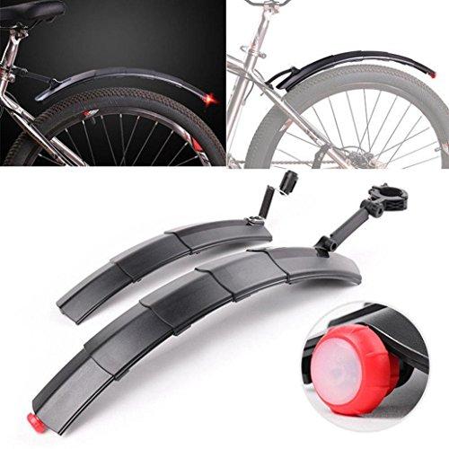 2018 Einziehbare Fahrrad-Kotflügel Hinten 34.5cm/50cm  sunnymi Neu Fahrrad Fender Set  Frontfender + Heckfender + Rücklicht  Bereich: Rennrad Mountainbike (Grau, Soft Kunststoff)