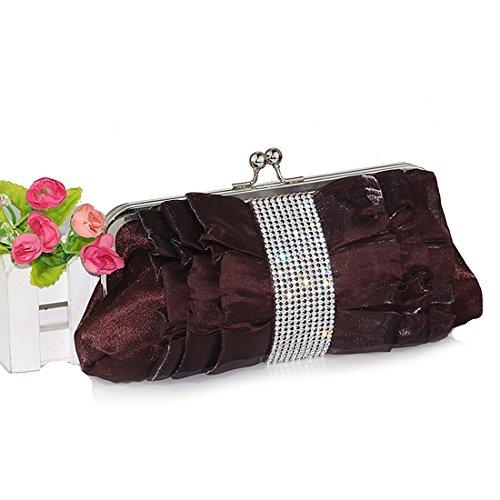 SSMK Evening Bag, Poschette giorno donna deep coffee color
