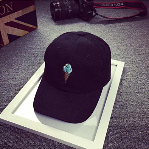 Imagen de xinantime sombrero,  de béisbol para gente joven sombreros ajustable negro alternativa