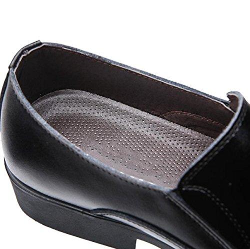 LYZGF Hommes Gentleman Business Mode Chaussures En Cuir Vêtements De Cérémonie Loisirs Round Toe Black