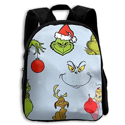 HOJJP Schultasche The Grinch Stole Christmas Kids Printed Backpack Shoulder Children