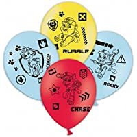 Amscan Paw Patrol Childrens/Kids Official Latex Party Balloons (Pack Of 6)