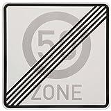 ORIGINAL Verkehrszeichen ENDE 50 ZONE Verkehrschild für den 60 Geburtstag Geschenk mit RAL Gütezeichen 60 x 60 cm StVO Geburtstagsschild Straßenschild Verkehrsschilder Schild Schilder Straßenzeichen Straßenschilder Geschwindigkeitsschild Zonenschild