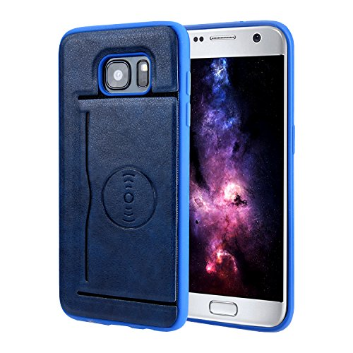 Custodia samsung galaxy s7 edge,cover samsung galaxy s7 edge - cozy hut tpu silicone custodia cover samsung galaxy s7 edge,slim hybrid shockproof custodia per samsung galaxy s7 edge con kickstand heavy duty anti-scratch cover protettiva per samsung galaxy s7 edge - blu royal premium