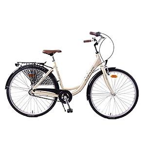 "51QgO0sfDJL. SS300  - Kayoba Elegance 700c Wheel Dutch Bike Traditional Classic Ladies 3 Speed Shimano Cream 20"" Alloy Frame"