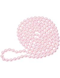 7bee7dd29457 Collar del sueter - SODIAL(R)Rosado Decoracion de perla de vidrio de mujer