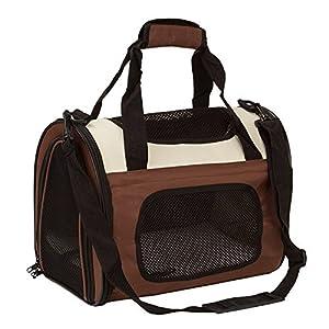 Maxmer Hund Transporttasche Katze Tragetasche Oxford Tuch + Atmungsaktiv Netzfenster Single-Schulter geeignet für klein Tiere wie Nager Hunde Häschen und Katzen (Rot/ Blau/ Braun, S/L)