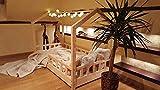 Oliveo HAUSBETT KINDERHAUS Bett für Kinder,Kinderbett Spielbett mit SICHERHEITBARRIEREN (160 x 90 cm, Gemalt)