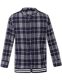 Life by Shoppers Stop Boys Mandarin Neck Check Shirt