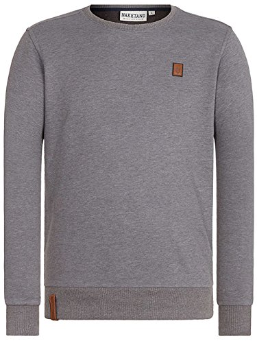 Herren Sweater Naketano Kubilay V Sweater Dark Grey Melange