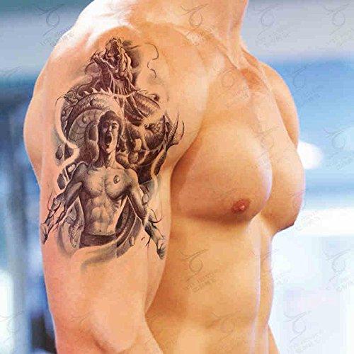 Zokey Autocollant de tatouage temporaire étanche Bruce Lee