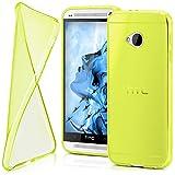 moex HTC One M7 | Hülle Silikon Transparent Gelb Clear Back-Cover TPU Schutzhülle Dünn Handyhülle für HTC One M7 Case Ultra-Slim Silikonhülle Rückseite