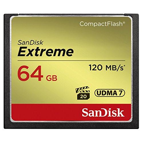 SanDisk Extreme CompactFlash UDMA7 64GB bis zu 120MB/Sek Speicherkarte