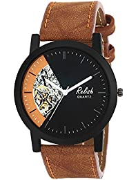 RELISH RE-S8111BT Black Slim Analog Watches For Men's And Boy's