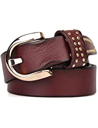 Ofgcfbvxd Correa de Cintura de la Vendimia de Las Mujeres Cinturón de Cuero  para Mujer Remache 5de57a764261