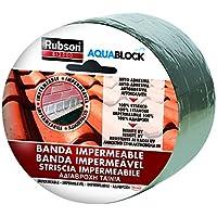 Rubson Bl 2500, banda impermeable, a prueba de agua, color aluminio 5 mx 10 cm