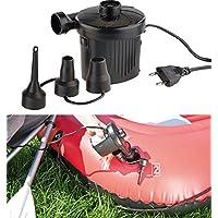 AGT Elektrische Pumpe: Elektrische Schnell-Luftpumpe mit 3 Aufsätzen, für 230 V, 150 Watt (Elektrische Luftpumpen 230 Volt)