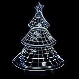 Neue 3d weihnachtsbaum led nachtlicht dekoration schlaf lampe für zuhause 7 farben ändern geschenk des neuen jahres für kind baby lava With remote control