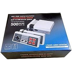 Family Classic Edition Mini Consola Construido 500 Videojuegos Retro Salida AV Con Dos Controladores