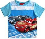 Cars Disney 3 T-Shirt Kurz Lightning McQueen Jungen (Blau, 128)