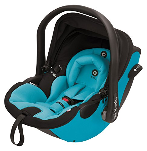 Preisvergleich Produktbild Kiddy 41940EL024 Evoluna i-Size Babyschale inkl. Isofix Base, patentierte KLF-Liegefunktion, i-Size (Geburt-83 cm, Geburt-ca. 15 Monate), Hawaii (türkis)