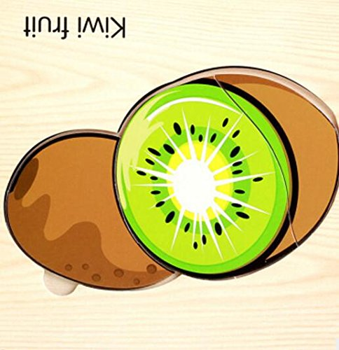 Weekendy Cadeau de Noël Puzzle éducatif en Bois Early Learning Formes Couleur Animal Toy Fantastique Cadeaux pour Enfants (Kiwi Fruit) Casse-tête pour Adultes