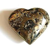 Reiki Healing Energy Charged Einzigartiger Pyrit Herz Kristallstein 188 g (wunderschön in Geschenkverpackung verpackt) preisvergleich bei billige-tabletten.eu