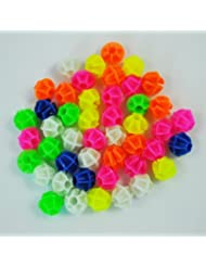 TOOGOO (R) 2 Bolsas de Cuentas Decoracion Multicolores Plastico para Radio de Bicicleta