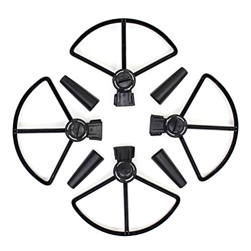 Keesin DJI Spark Quick Release Propeller Guard Prop Blade Protector with Undercarriage Extender Protection Accessory for DJI Spark Drone Black