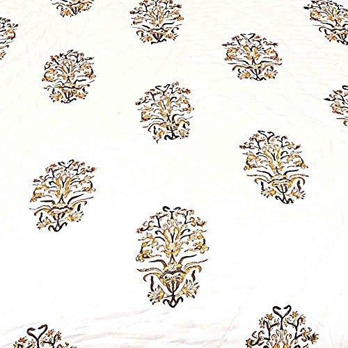 The Great Art Collection exclusive rajasthani rajai for winter jaipuri razai blanketFloral Design Jaipuri Print Coton Single Bed Quilt 118