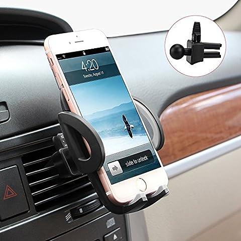 Avolare® Support TéléphoneVoiture Support Auto Universel grille d'aération puissante pour les smartphone Samsung galaxy S7,S7 edge,S5,a5,S6 edge,j5,a5 2016, iPhone 6,6S,5S,5C,6S,Plus,Nexus,HTC, Motorola,Sony