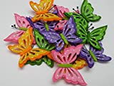 Schmetterlinge aus Filz mit Klebepad in 12er Pack Dekoration aus Filz Streudeko Streuteile Tischdeko