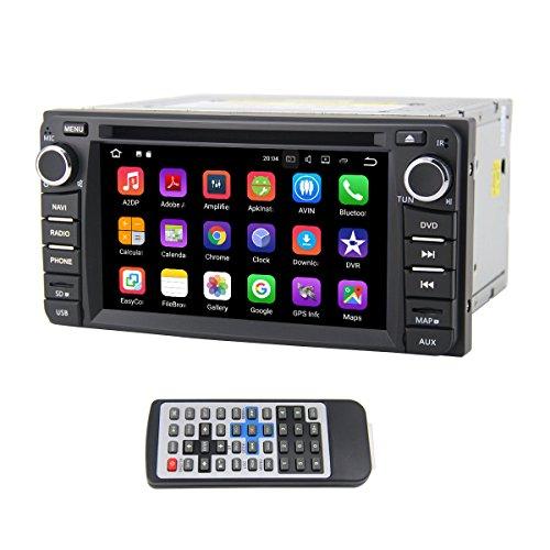 QSICISL Double Din Android 7.1 for Universel 6,2 pouces Dans Dash HD Écran Tactile Voiture DVD multimédia Lecteur Vidéo GPS Navigation Stéréo avec Intégré WIFI Modem soutien Bluetooth/Hotspot