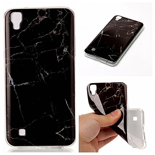ower Handyhülle mit Marmor / Marble Design(schwarz / weiß)   Handytasche     Schale     Hülle     Case   Handy-etui   TPU-Bumper   Soft Case   Schutzhülle Cover für den optimalen Schutz ihres LG X Power - Schwarzer Marmor (X Hut)
