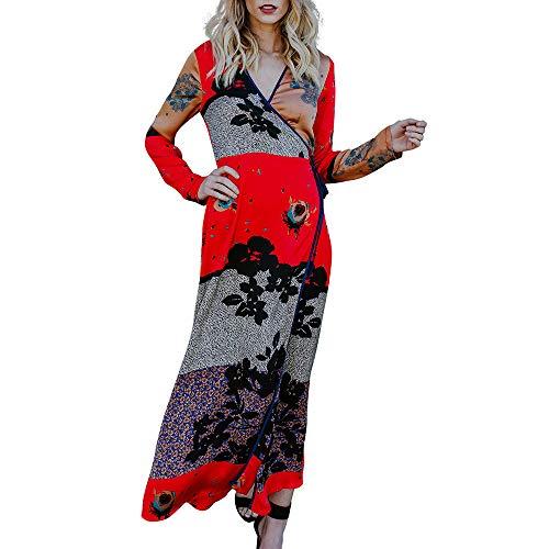 Amphia - Bedruckte Kimono-Cardigan-Strandbluse - Damen Bandage Bandage Schal Print Kimono Cardigan Top Cover Up Bluse ()