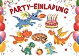 10-er Set Lustige Drachen-Einladungskarten zum Kindergeburtstag (10863)/Geburtstagseinladungen Jungen Mädchen Kinder von EDITION COLIBRI - Einladungen Drache/Dragons/Dino