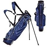 Blitzzauber 24 Golftasche 9 inch Ständerbag Golf Tragetasche Golfbag Pencil Bag Profi-Reisebag (Blau)